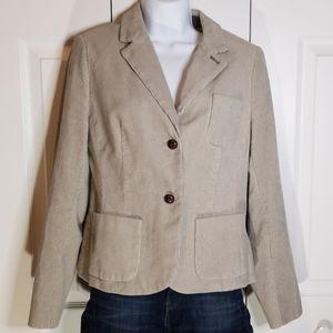 Boden Gray Coduroy Blazer Jacket